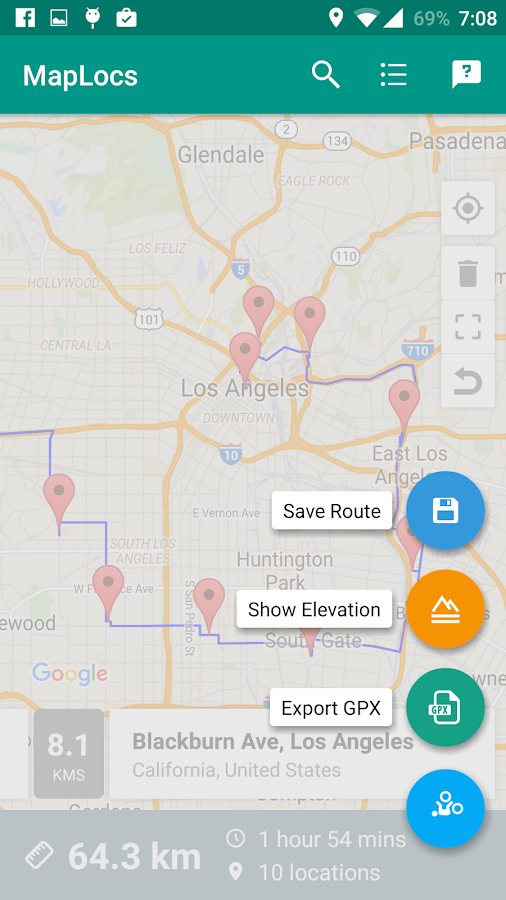 MapLocs Cycling Route Planner