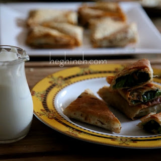 Green Stuffed Bread Lavash