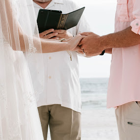 The Vows by Autumn Wright - Wedding Ceremony ( bride, vows, groom, ceremony, beach, wedding )