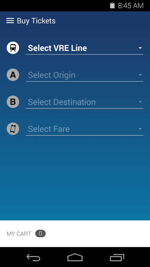 VRE Mobile- screenshot