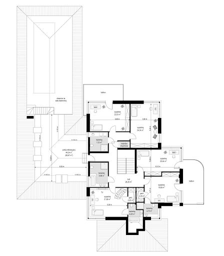 Rezydencja z widokiem - Rzut piętra