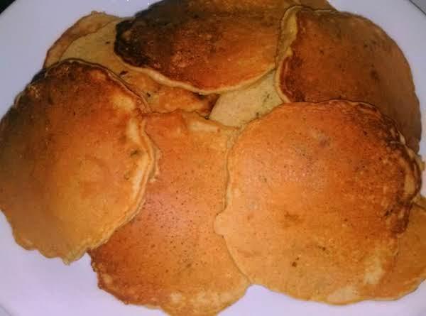 Weekend Spiced Apple Zucchini Raisin Pancakes