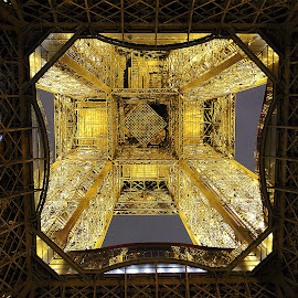 Under the Eiffel tower by Gérard CHATENET - Buildings & Architecture Architectural Detail