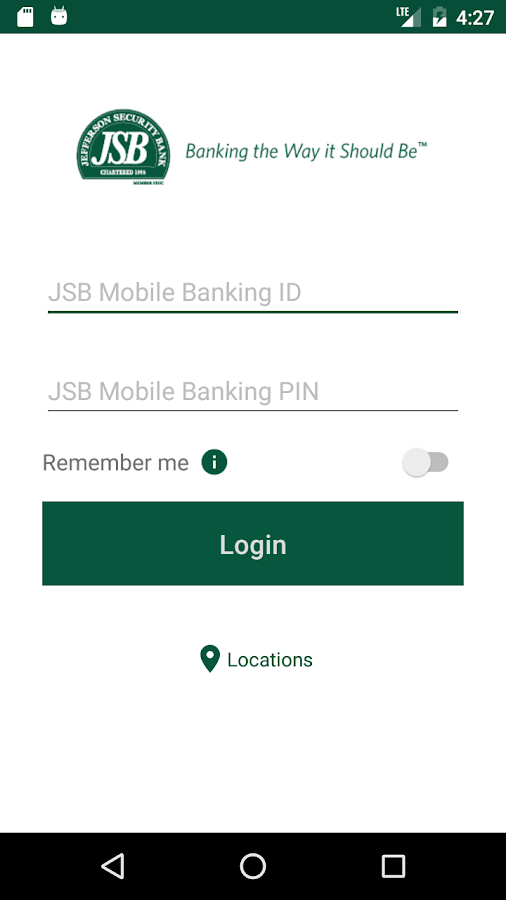 JSB Mobile Banking- screenshot
