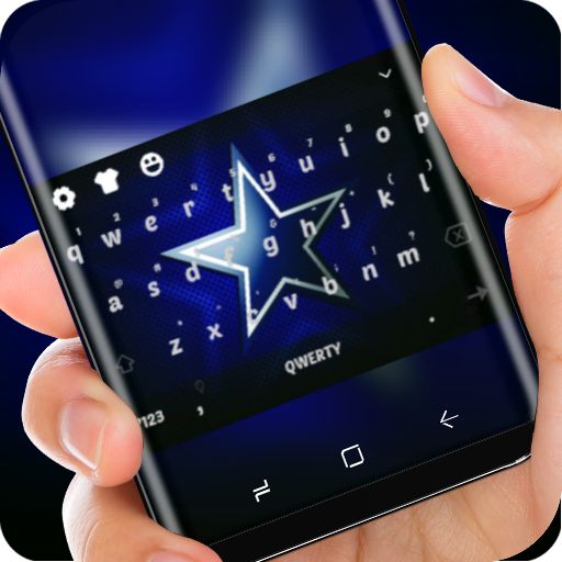 Cowboys Wallpaper Blue Silver Star Keyboard Theme