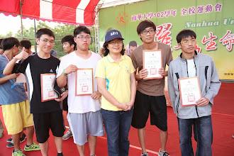 Photo: 男子4*100公尺:第四名吳俊毅(101級)、鄭文傑(101級)、吳冠賢(102級)、吳秉榤(102級)