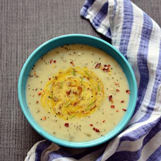 Cumin spiced Potato n leek soup – Vegan, frugal and warm