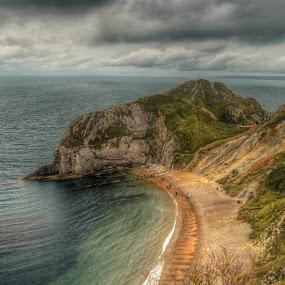 Durdle door 2 by Bela Paszti - Landscapes Mountains & Hills ( water, hill, england, cliff, sea, beach, durdle door, nikon, dorset,  )