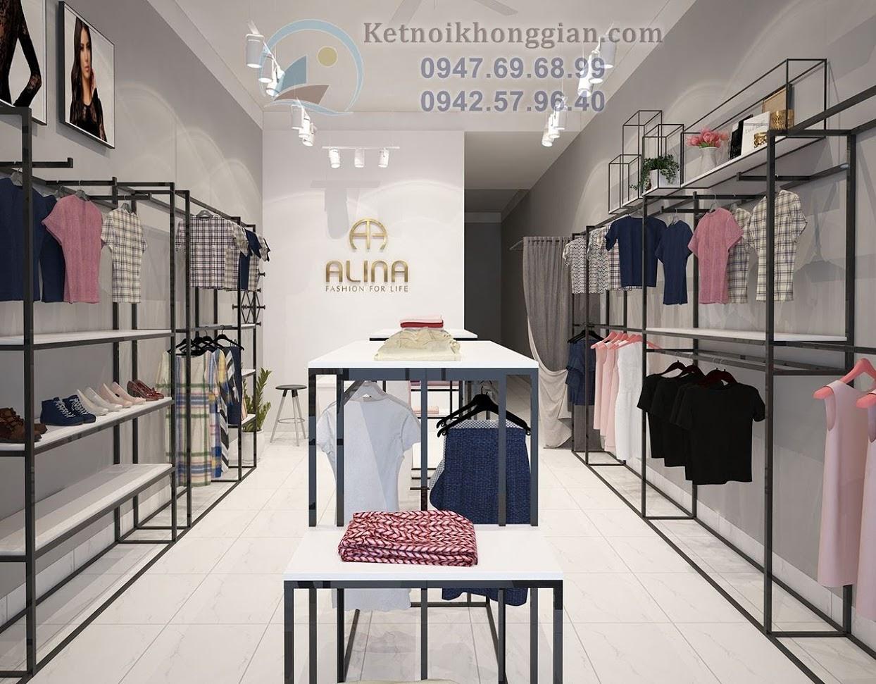 thiết kế shop thời trang nữ tính