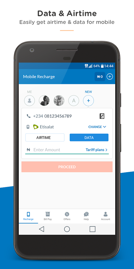 Recharge, Data & Bill Payments- screenshot
