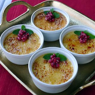Eggnog Crème Brûlée.