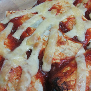 Cheese And Spinach Enchiladas In Salsa Sauce