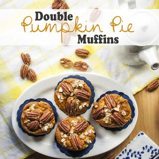 Double Pumpkin Pie Muffins {Gluten Free, Sugar Free}.