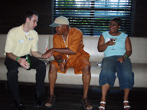 Photo: SBA 504 Loan Expert, Trey Colson, meeting two of Mercantile Capital Corporation's guests. www.504Experts.com