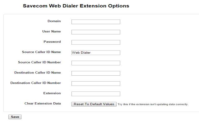 Savecom Web Dialer