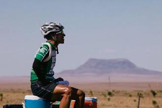 Photo: A desert mirage. A rare site. Jason Lester must eventually rest.