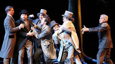 Photo: DIE LUSTIGE WITWE IN LINZ (Premiere 7.11.2015) Die Herren. Foto: Reinhard Winkler für Landestheater Linz