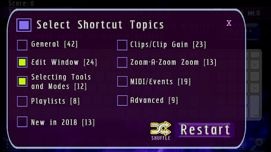 Pro Tools 12 / 2018 Shortcuts: Interactive Trainer- screenshot thumbnail