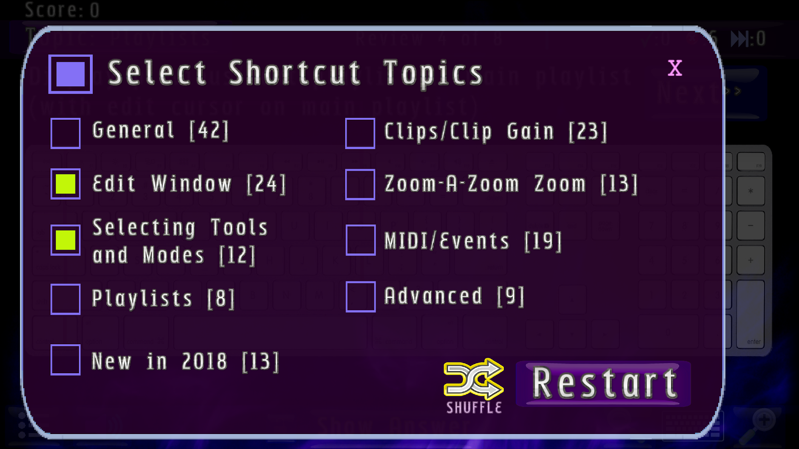 Pro Tools 12 / 2018 Shortcuts: Interactive Trainer- screenshot