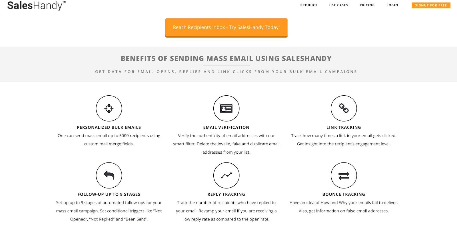 SalesHandy email sharing benefits
