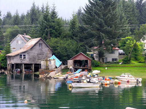 Petersburg-Alaska - A glimpse of the seaport of Petersburg, Alaska.