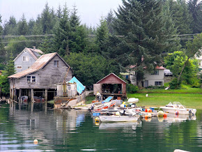 A glimpse of the seaport of Petersburg, Alaska.