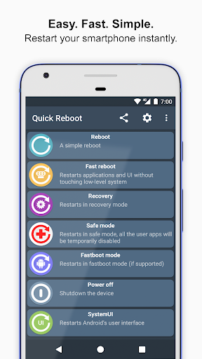 ? Quick Reboot - #1 phone & tablet reboot manager 2.1.2 screenshots 1