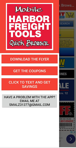 Harbor Freight Mobile Quick Browser