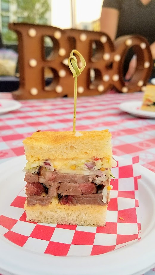 Review of Feast PDX Smoked 2017, Allen Routt of Storrs Smokehouse also from Newberg offered a Smoked Brisket Sandwich