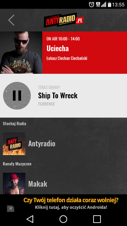 Antyradio- screenshot