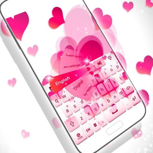 粉紅色的愛鍵盤 個人化 LOGO-玩APPs