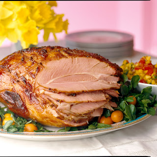 Baked Ham With Mojo Sauce.