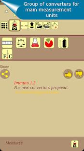 Immuto - universal unit converter - náhled