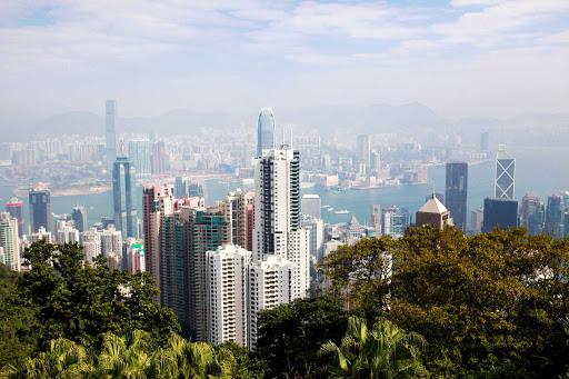 Victoria Peak offers panoramic views of Hong Kong.