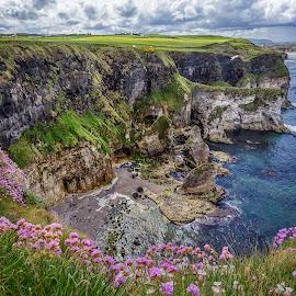 Magheracross by Jim Hamel - Landscapes Travel ( cliffs, ireland, magheracross, northern ireland, coast, causeway coast, county antrim )