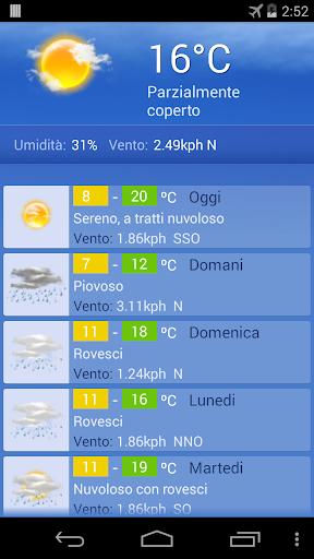 Meteo Torino screenshot 1