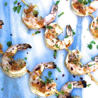 Grilled Spicy Honey Ginger Shrimp Recipe