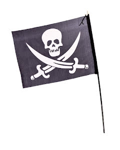Piratflagga på pinne