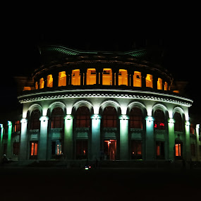 The Opera House  by Anto Boyadjian - City,  Street & Park  Night ( building, armenia, night, opera, yerevan )