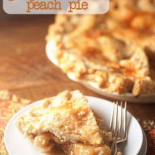 Ginger Bourbon Peach Pie