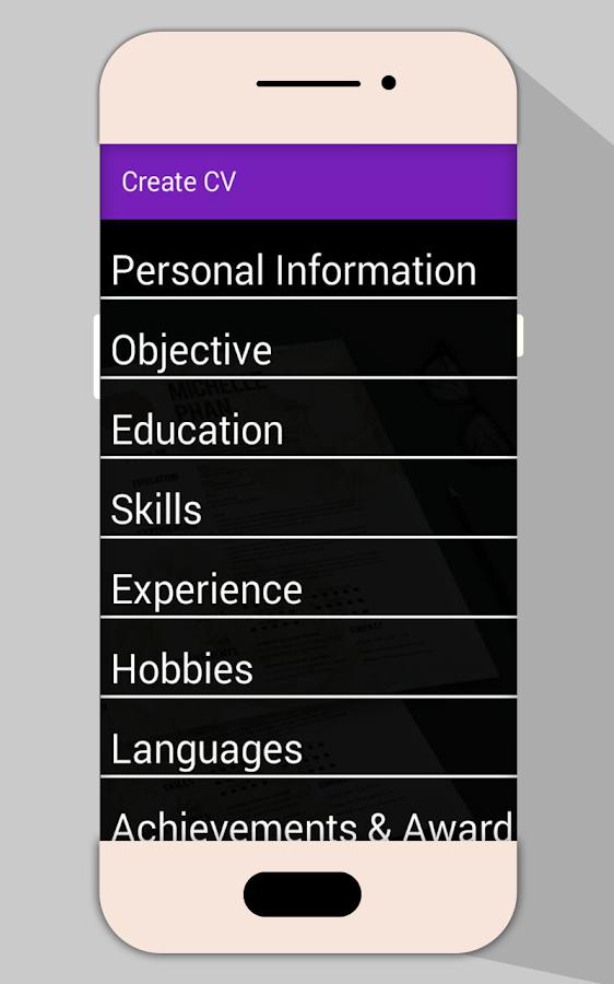 Job CV Maker PDF   Resume Builder - Android Apps on Google Play
