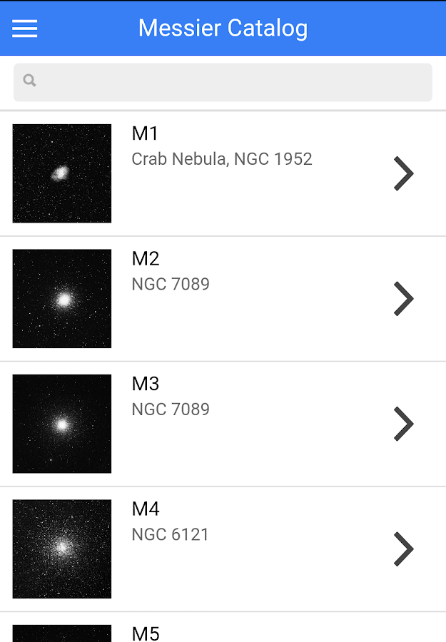 Messier Catalog - Astronomical- screenshot