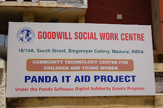 Photo: Our Community Technology centre at GOODWILL,Madurai,India