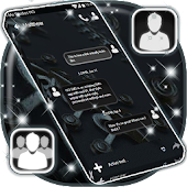 Black New SMS Theme