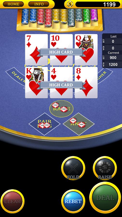 Three card poker free games