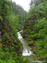 Photo: The (as yet ungrafitied) creek canyon running down to Arshan