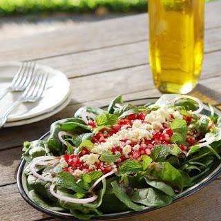 Pomegranate & Spinach Salad.