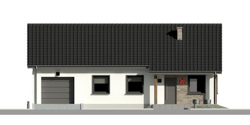 Dom przy Bukowej 20 - Elewacja przednia