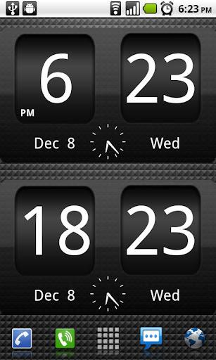 FlipClock BlackOut Widget 4x2 screenshot 2