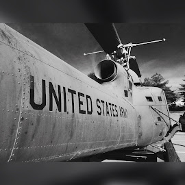 United States Army  by Kristina Denney - Black & White Buildings & Architecture ( military )